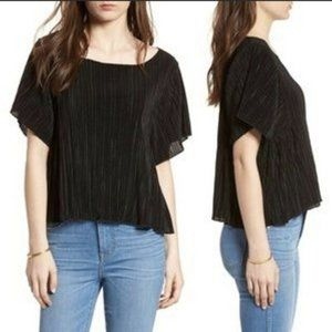 Madewell Pleated Short Sleeve Top